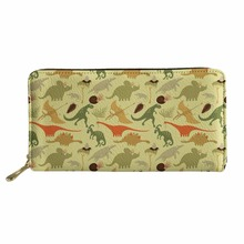 Jurassic Century Dinosaur Amp Dragon Printed Lady Purses High Ladies Clutch Wallet Long Female Carteira Feminina