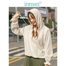 INMAN 2019 Autumn New Arrival Minimalism Hoodie Causal Fashion All Matched Embroidery Literary Women Sweater