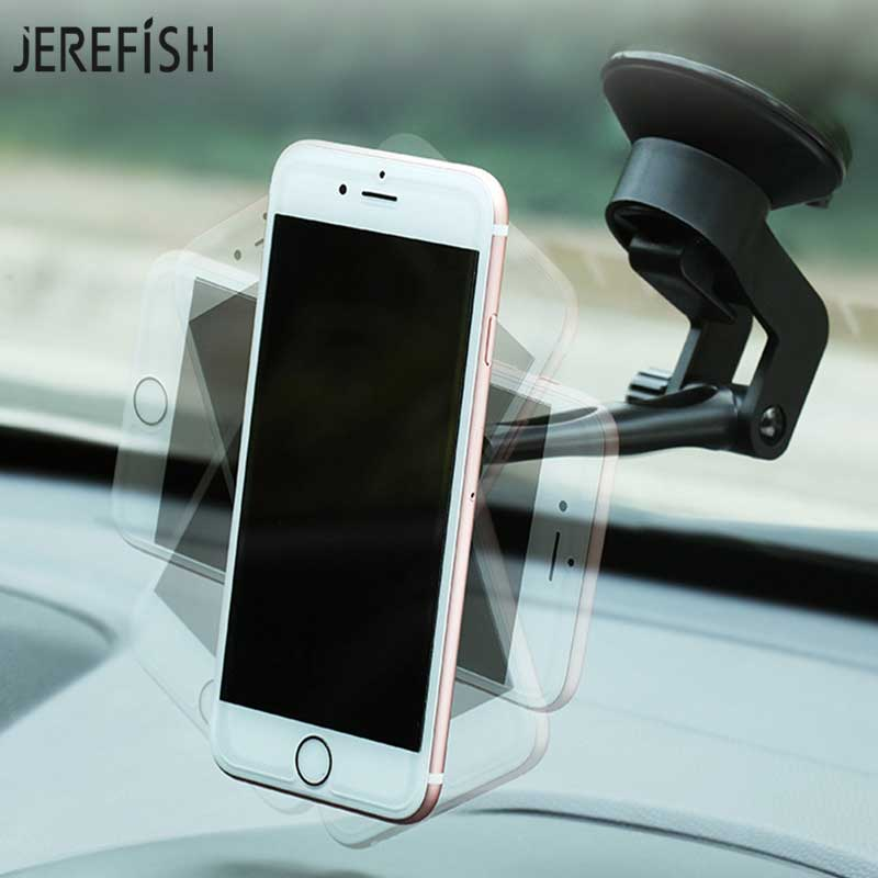 JEREFISH Magnet Mobile Car Phone Holder 360 Rotation Cell Phone Car Holder Stand for iPhone 7 8 Plus X Phone Bracket Stand mobile phone