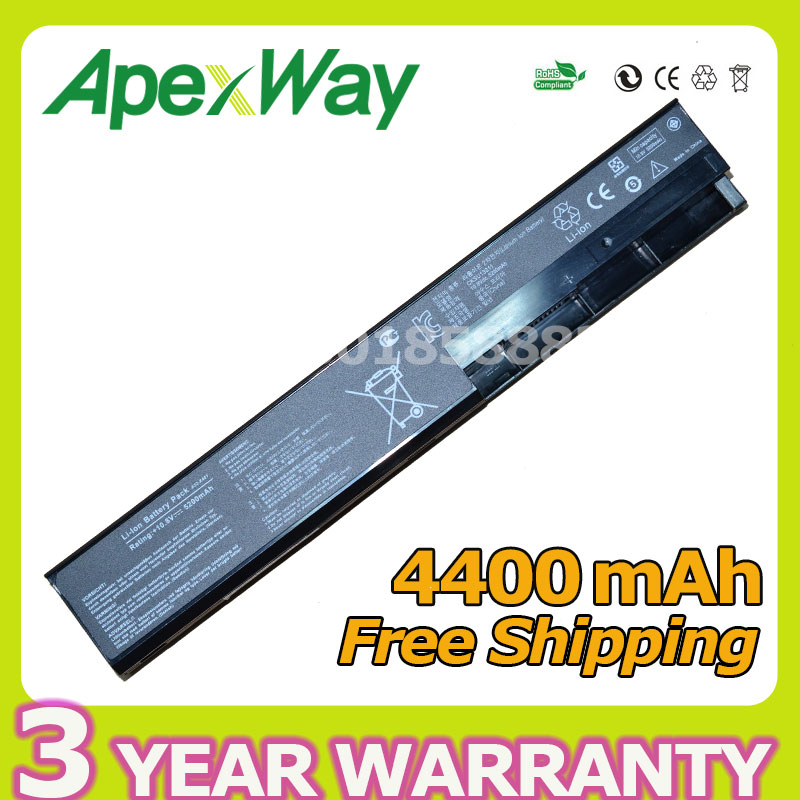 Apexway 4400mAh X501a Battery for Asus A31-X401 A32-X401 A41-X401 A42-X401 X401 X401A X401A1 X401U X501 X501A X501A1 X501U laptop keyboard for asus x501 x501a x501u black without frame italian it mp 11n66i0 920w 0knb0 6103it00