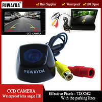 FUWAYDA Color CCD Car Rear View Camera for BMW X1 X3 X5 X6 with 4.3 Inch foldable LCD TFT Monitor WATERPROOF HD