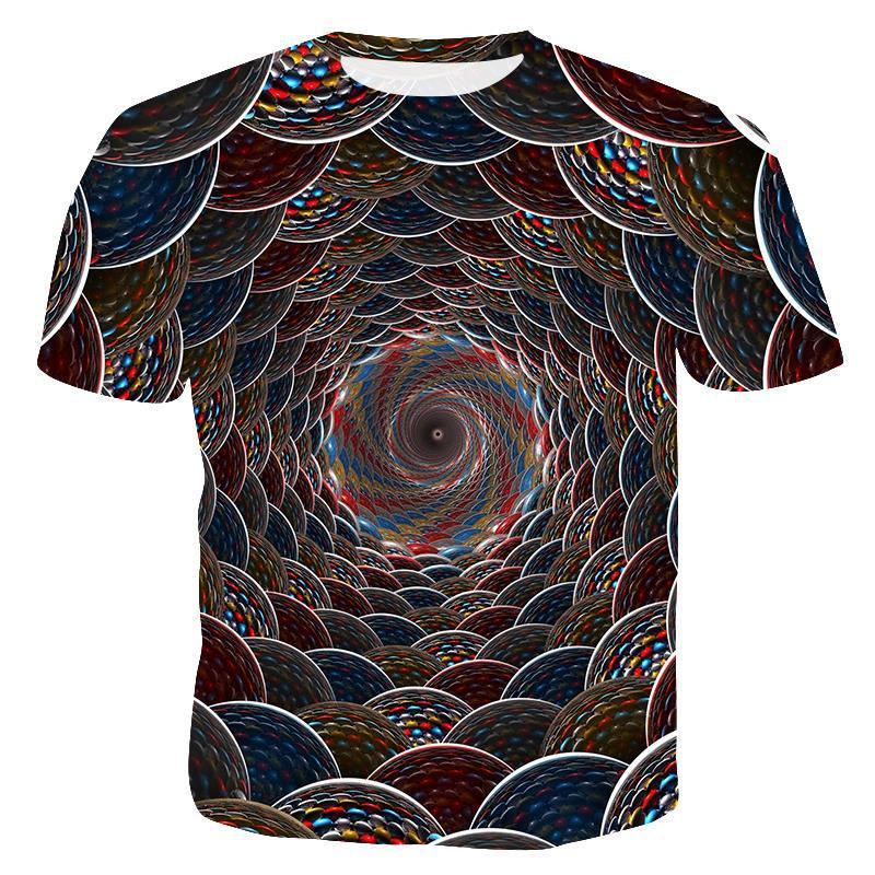 Мужская футболка с забавным принтом, Повседневная футболка с коротким рукавом и круглым вырезом, модная мужская 3D футболка/женская футболка, высокое качество, брендовая футболка - Цвет: T4