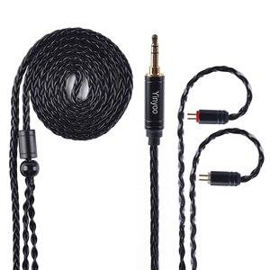 Image 2 - AK Yinyoo 8 ядра Модернизированный посеребренный Медь кабель 3,5 2,5 мм кабель для наушников с MMCX 2Pin для ZSTZS10AS10ZSX C12 V2 BLON TRN
