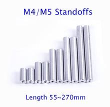 M4/M5 Alumínio Espaçadores Coluna Pilar Espaçador Comprimento 55/60/70/80/90/100/174/180/224/270mm