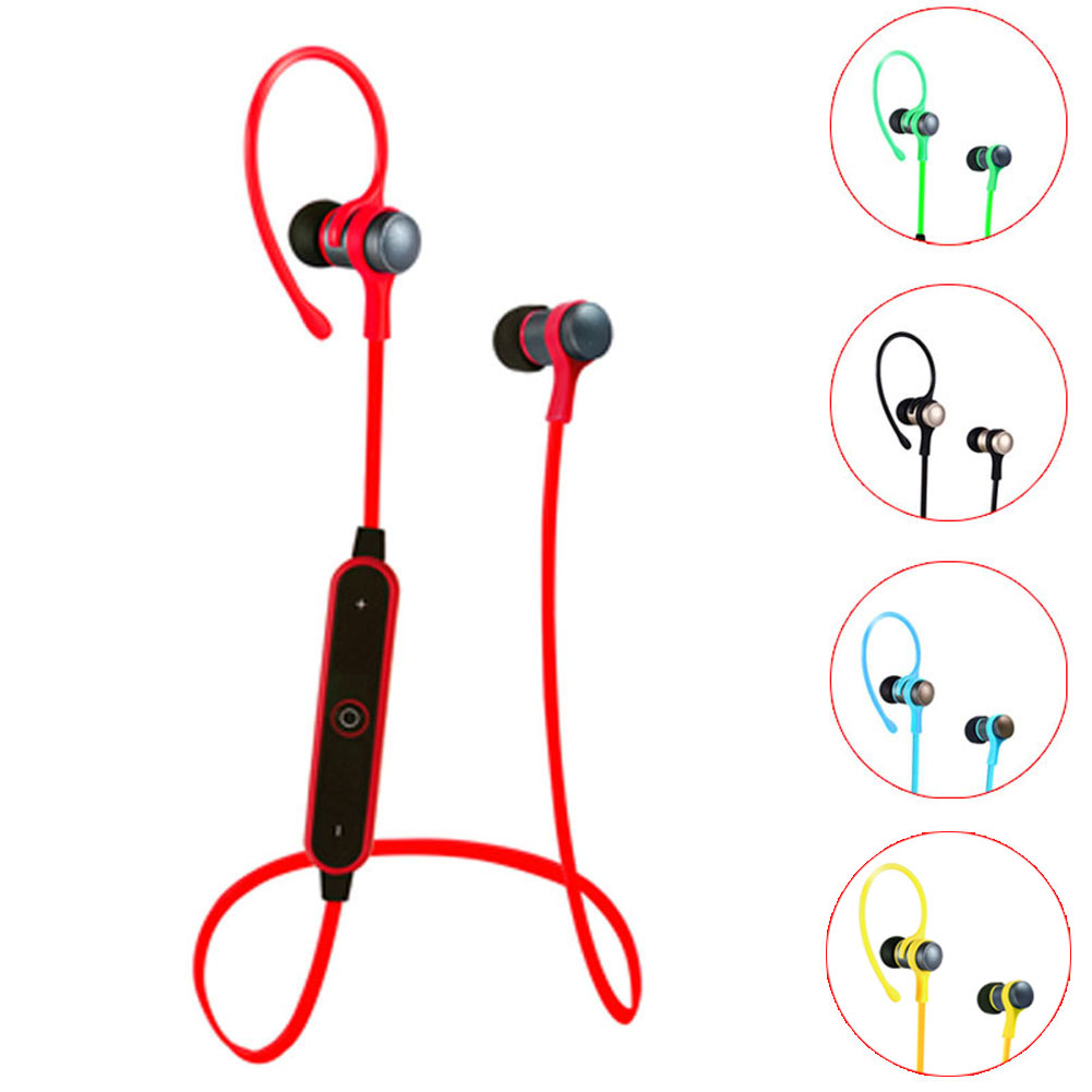 New Wireless Bluetooth Earphone Auricular Metal Headset with Mic for iPhone 7 Plus HUAWEI Mate 9 eals @JH new design earphone bluetooth headset deep bass wireless earbuds magnetic switch with mic for huawei honor 5x
