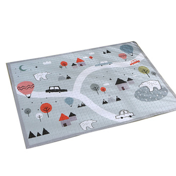 145*195cm Baby Cotton Play Mat Folding Mat Baby Carpet Outdoor Puzzle Children's Mat Thickened Baby Room Crawling Pad