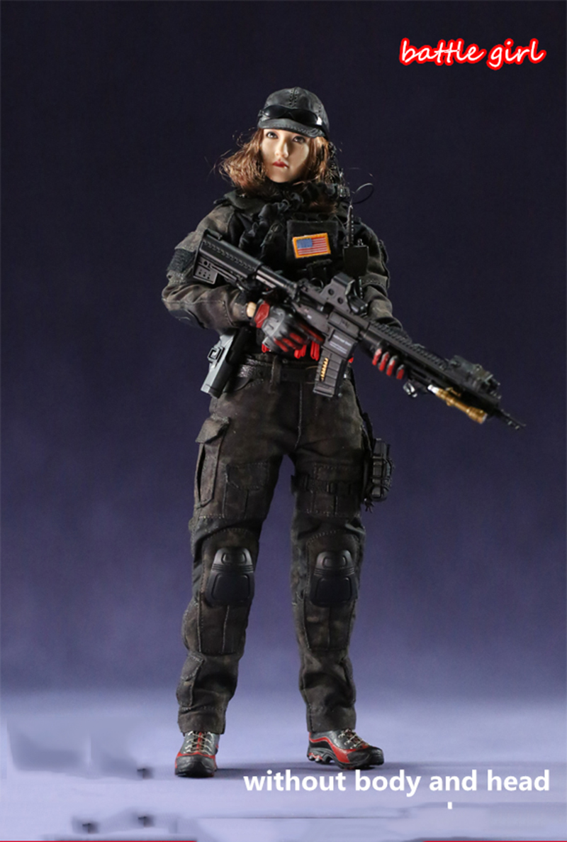 1/6 Scale Battle Girl 1.0 Combat Clothes Set with Accessories Models for 12''Action Figures Bodies цены