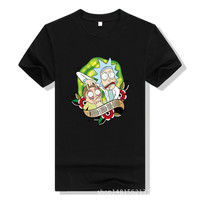 New Cool Rick Morty Men T Shirt 2018 Summer Anime T Shirts Rick And Morty Worlds