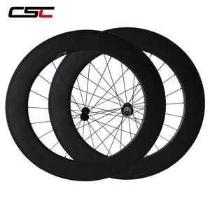 Image 4 - CSC Carbon Road Wheels 38mm 50mm 60mm 88mm Tubular Clincher Carbon Aero Wheel U Shape R13 Hub CN or SAPIM CX RAY CX RAY Spokes