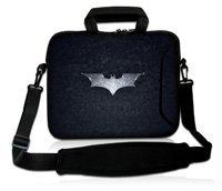 "17 "" Batman Soft ordenador portátil del neopreno del hombro de la manga caja bolsita + mango, bolsillo para 17 "" 17.3 "" 17.4 "" HP DELL ACER ASUS ordenador portátil"
