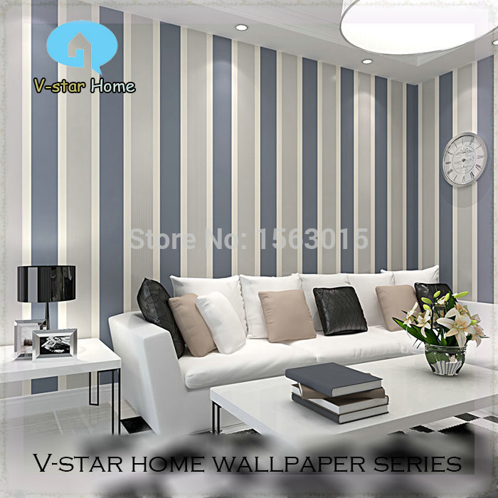 Living Room Suites For Sale: Sale!2015 Modern Simple Style Non Woven Vertical Striped