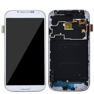 Image 2 - 5.0 شاشات lcd لسامسونج غالاكسي S4 شاشة الكريستال السائل مع الإطار GT i9505 i9500 i9505 i9506 i9515 i337 محول الأرقام بشاشة تعمل بلمس