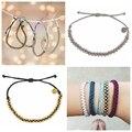 2016 pulseras New Fashionable Rope Chain Elegant Women Jewelry Brand Braided Bracelet Women Friendship Beaded Wax Bracelets