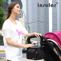 Waterproof Insulation Stroller Baby Diaper Bags For Pushchair Storage Cooler Bags Nappy Changing Mummy Shoulder Bag