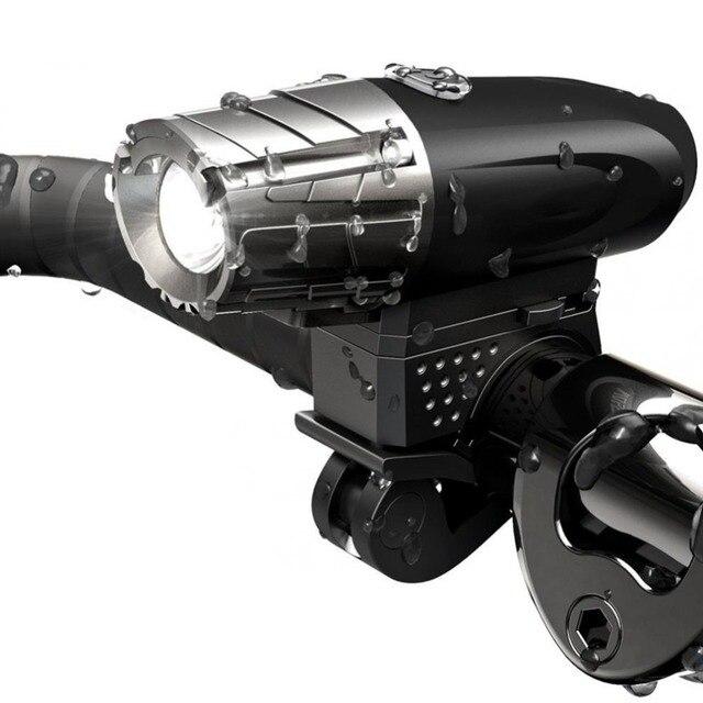 INBIKE 2018 Usb Rechargeable Bike Front Handlebar Cycling Led Light Battery