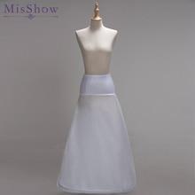 Women White 1 Hoop A-line BONE FULL CRINOLINE Petticoats Wedding Accessories Bridal Crinolines Vestidos De Novia Underskirt 2018
