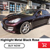 Highlight Metal black rose full wrap car vinyl wraps black rose vinyl wraps super gloss vinyl wraps