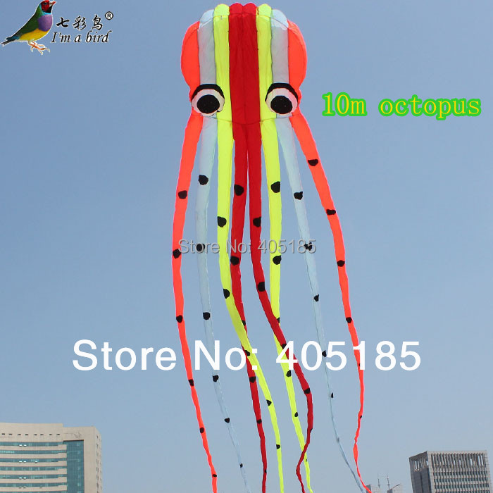 Outdoor Fun Sports High Quality 10m Power Kite Software Octopus Flying Free Shipping professional victor inductance capacitance lcr meter digital multimeter resistance meter vc6013