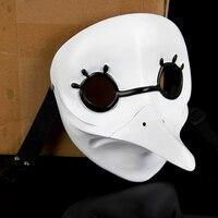 Hot White Masquerade Mask Venetian Long Nose Bird Doctor Plague Mask Beak Fancy Cosplay Masks Party Head Prop Bird Mouth Suvenir