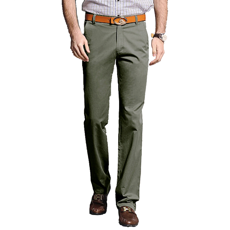 Leisure-Trousers Straight-Pants Business Thick Cotton New Man Autumn Loose Size-29-40