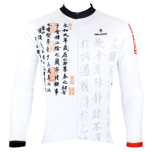 3e1b49cbe Men s Cycling Jersey Personality Bike Clothing Chinese Calligraphy Bicycle  Shirt White Cycling Clothes Breathable Ropa Ciclismo
