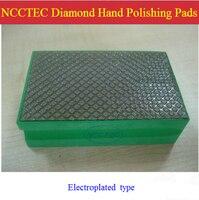 Electroplated Diamond Hand Polishing Pads Blocks Tools For ROUGH Polishing Marble Granite FREE Shipping Grit 60