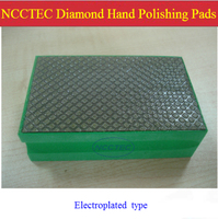 Electroplated Diamond Hand Polishing Pads Blocks Tools For ROUGH Polishing Marble Granite FREE Shipping Grit 60