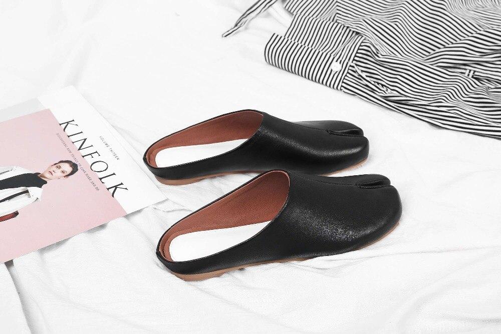 Dulce Sandalias A Diseño 2019 Mano Zapatillas Novedad De L15 Genuino La chocolate Zapatos Ocio Hecho blanco Cuero Negro Arte Princesa Estilo XOSPq