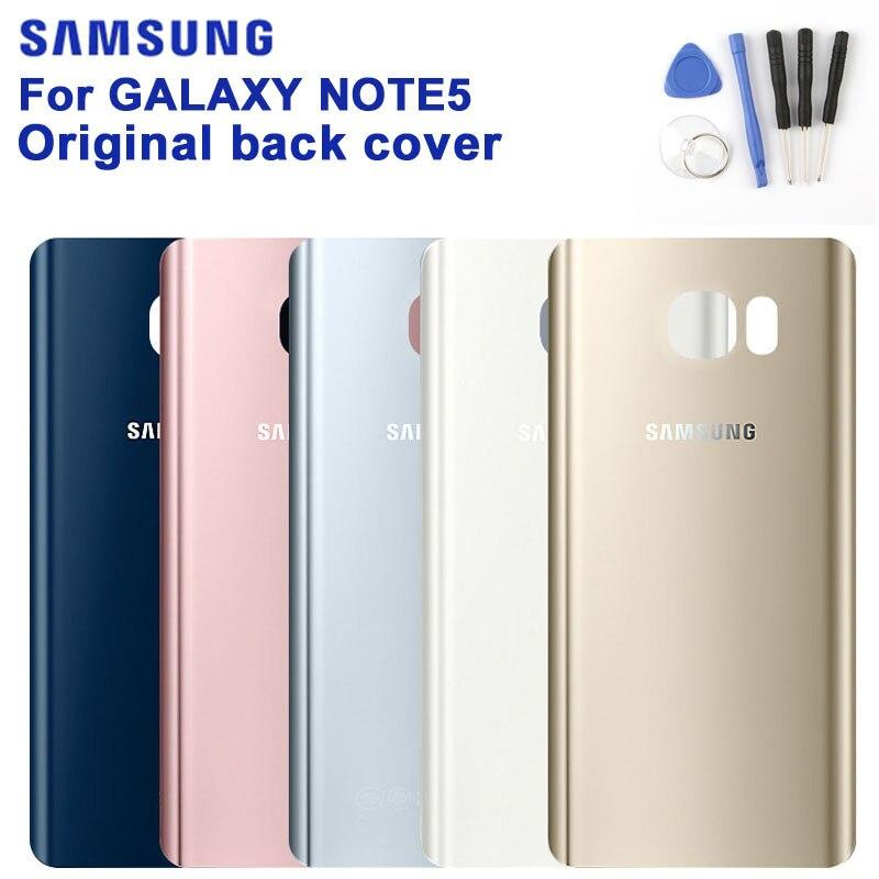 SAMSUNG Original Back Battery Cover Phone Shell For Samsung Galaxy Note 5 SM-N9208 N9208 N9200 N920t N920c Note5 Glass Backshell