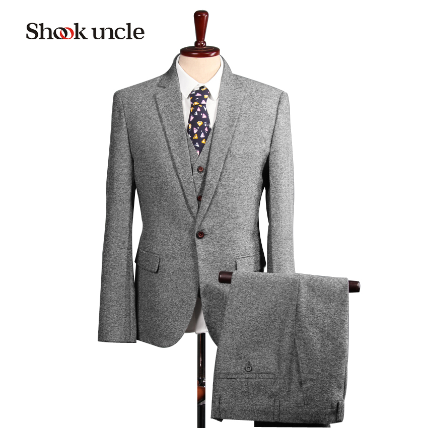 Custom Made Mens Light Grey Suits Fashion Formal Dress Men