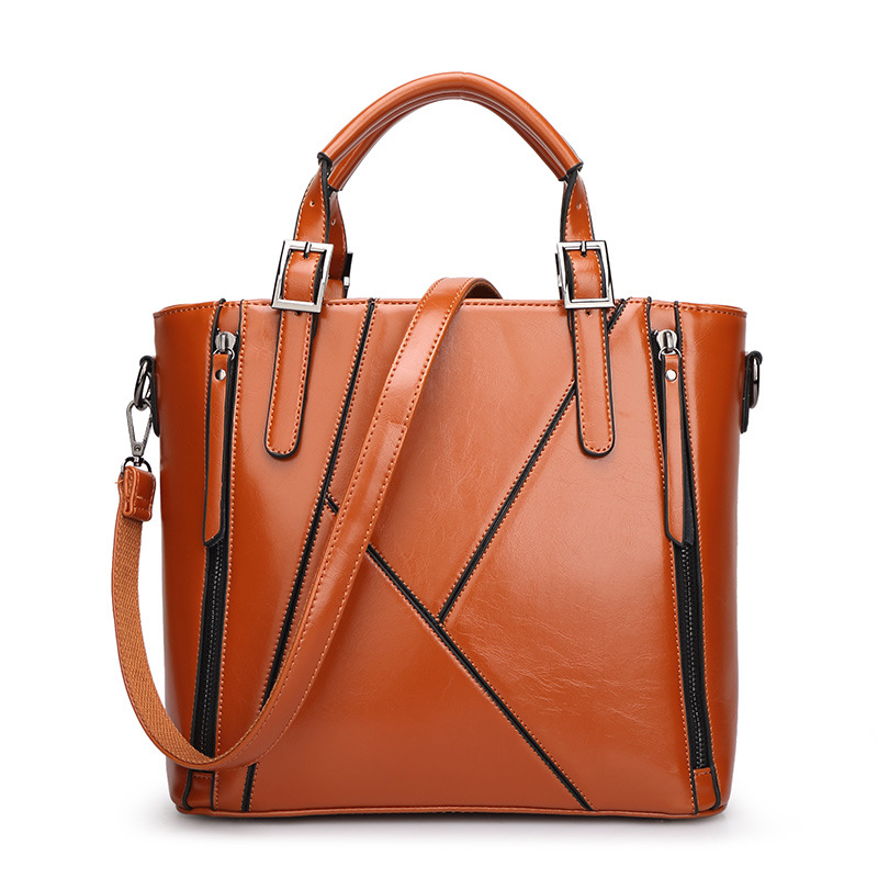 ФОТО Hot sale high quality female bag new European and American fashion ladies bag contracted splicing hand the bill of lading should