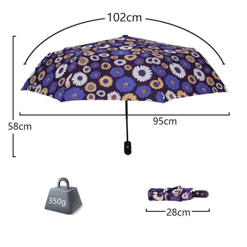 Креативный автоматический зонтик в виде цветка, Зонт от дождя для женщин и мужчин, светильник в 3 сложения, прочные, яркие зонты, детские, дождливые, солнечные, оптовая продажа