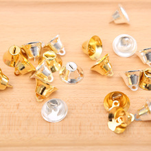 20Pcs Small Bell Christmas Craft Gold Silver Color Bells Pendant Tree Decorations Jingle New Year Home Decor