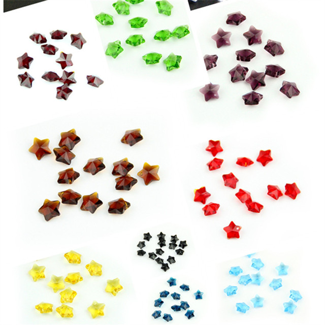 Big sale 100pcs mixed color 14mm crystal star beads for chandelier big sale 100pcs mixed color 14mm crystal star beads for chandelier part glass prism suncatchers wedding aloadofball Gallery