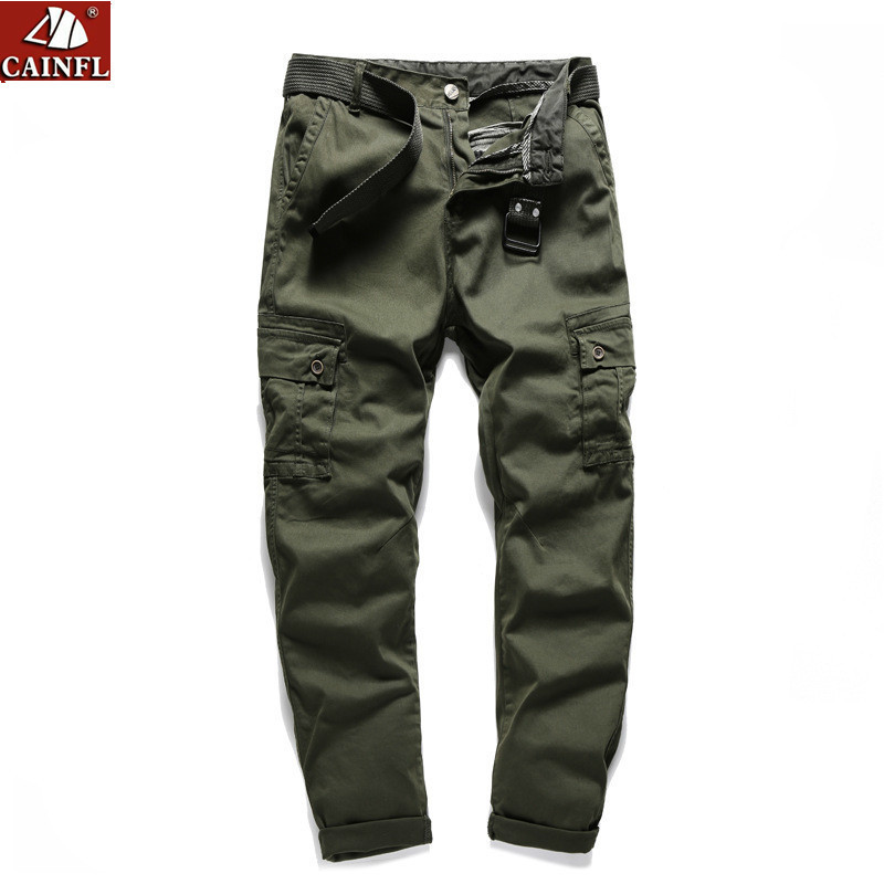 CAINFL Cargo Pants Men 2018 Mens Leisure Time Work Clothes Trousers Male Pocket Casual Tactical Pants Tide Spring Autumn 803