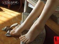 Vrouwen Mannequin voor schacht sex poppen kalf Display modeshow show voeten vol Siliconen nep voet 24 cm Flesh