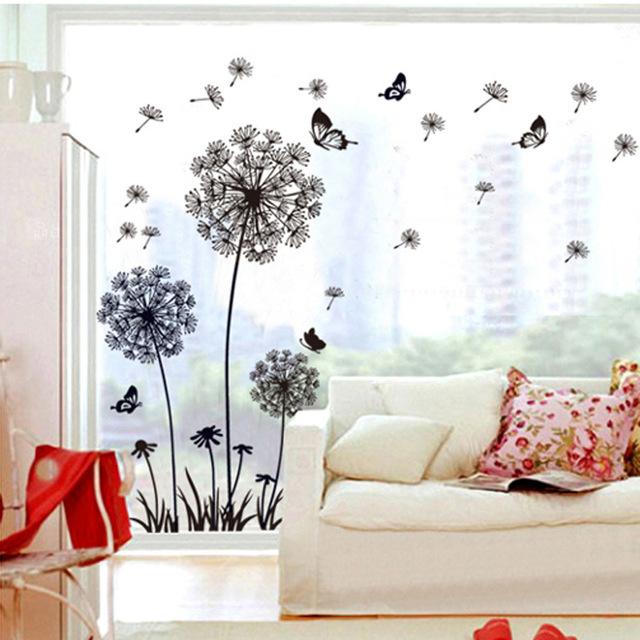 Diy Larde Dandelion Wall Stickers Family Tree Wall Poster Home Decoration  Decor Flower Wall Art Decals