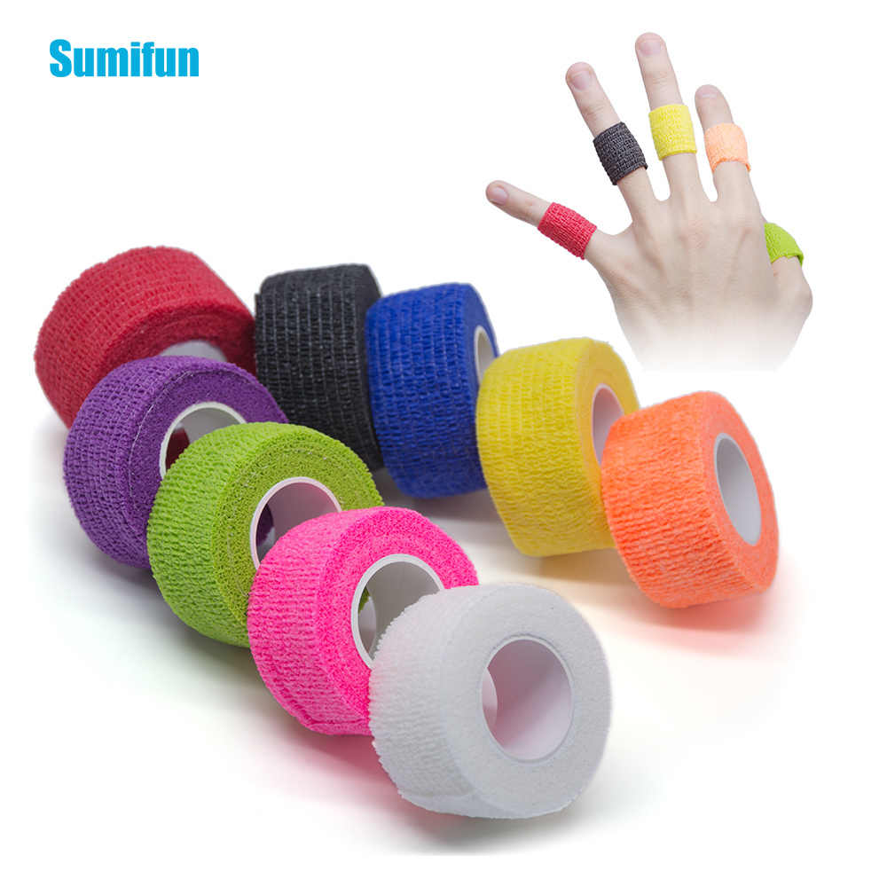4pcs  Sumifun Color Non-woven Self-adhesive Elastic Bandage 2.5*450cm Sports Protective Stretch Bandage Protation Masssage D1062