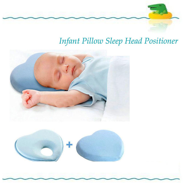 Quality Newborn Toddler Safe Anti Roll Baby Infant Pillow Sleep Head Positioner Preventing Flat Head,Lovely Baby Memory Pillow