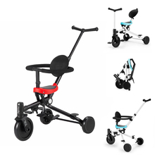 Portable Children Pushchair Baby Trolley Multifunctional Child Tricycle цены
