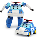 1 Pieces New  Fashion Baby Toys  Car Poil Children Toys Deformation Team Safety Baby Toy Deformation Car Polly Robot
