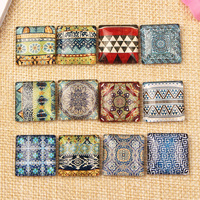 Mix Flatback Glass Square Cameo Cabochon 20mm DIY Pendants Necklace Jewelry Making