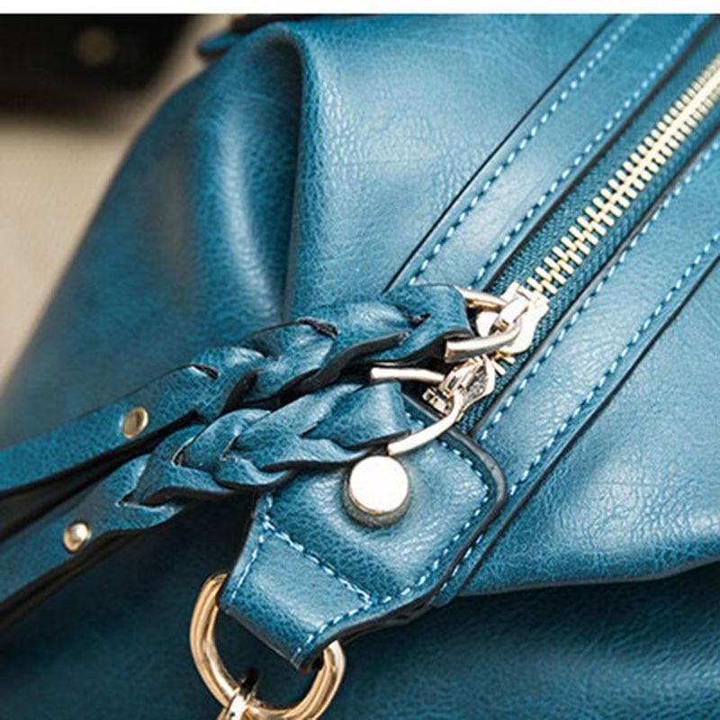 BVLRIGA Women messenger bags handbags women famous brands high quality Boston leather women bag shoulder bags big totes bolsos