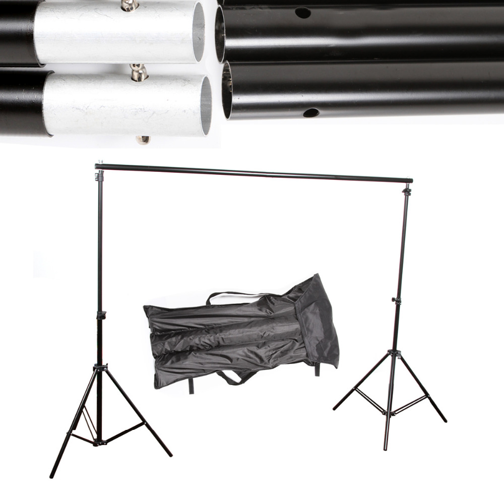 10Ft Adjustable Background Support Stand Photo Backdrop Crossbar Kit Photography photo studio 2 6 3m adjustable background support stand photo backdrop crossbar kit photography equipment
