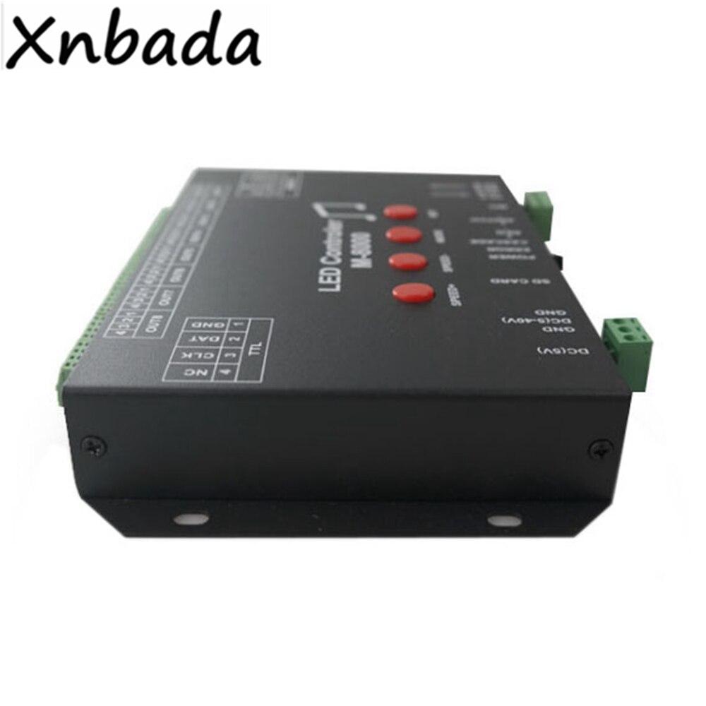 M 8000 Programable 8096Piexl Led controlador de música para WS2812B WS2812 SK6812 Led cinta de tira de luz entrada DC5V - 3
