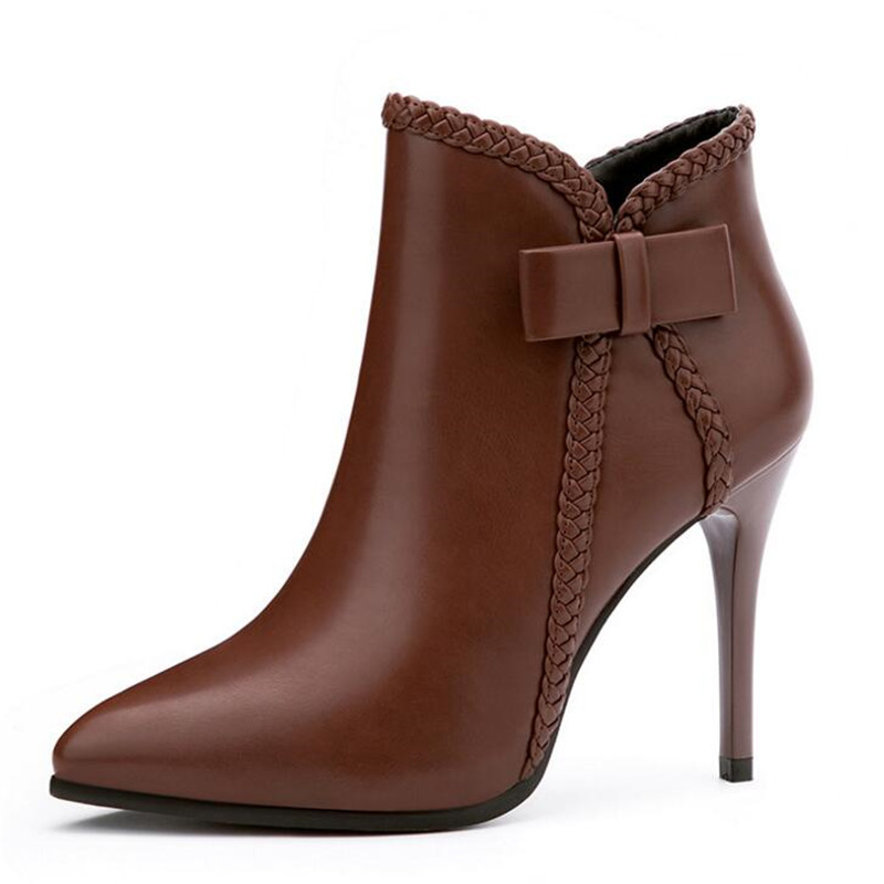 ELGEER New Nightclub Sexy Booties Fine toe Side Zipper Thin Women 39 s Boots Sexy Pointed High heeled Women 39 s Boots in Ankle Boots from Shoes