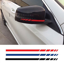 4-Color Side Rear View Mirror Stripes Decal Sticker for Mercedes Benz W204 W212 W117 W176 Edition 1 AMG Style
