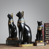 Creative Home Decoration Accessories For Living Room Lucky Egyptian Cat Resin Crafts Decoration For Home Office Decoration