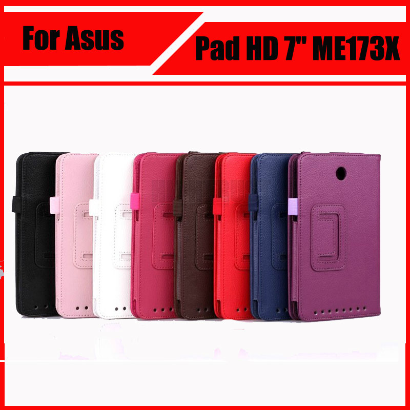 3 in 1 Top Quality PU Leather Case with Stand For Asus Memo Pad HD 7 ME173X ME173 + Screen Film + Stylus