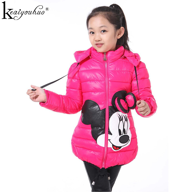 Girls Jacket Fashion Autumn Winter Warm Jackes For Girls Coats Kids Outerwear Cartoon High Quality Down Jacket For Kids Clothes